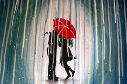 """Love Under a Red Umbrella"""
