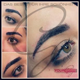 Augenbrauen Härchenzeichung