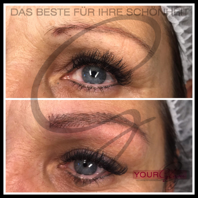 Augenbrauen Härchenzeichnung - Korrektur von einer alten Arbeit