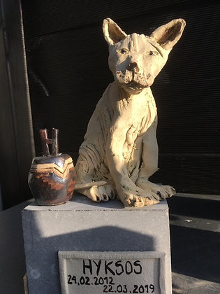 Gedenkbeeld voor kat