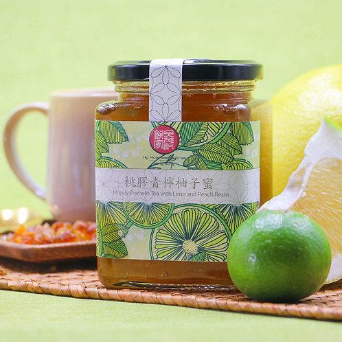 桃膠青檸柚子蜜 Honey Pomelo with Lime and Peach Gum