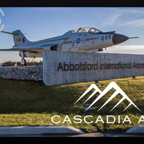 "Abbotsford Airport becomes the first ""Sky Station"" for  Cascadia Air commuter passengers."
