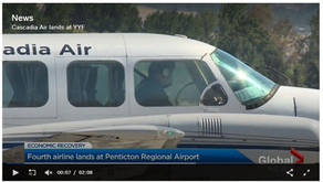 Cascadia Air Lands in YYF Penticton
