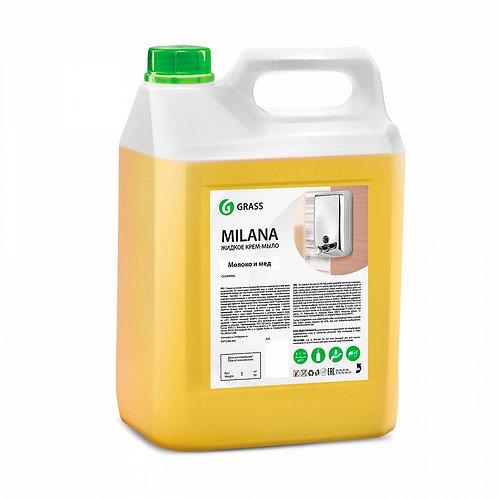 """Жидкое крем-мыло """"MILANA"""" Молоко и мёд (5 кг)"""
