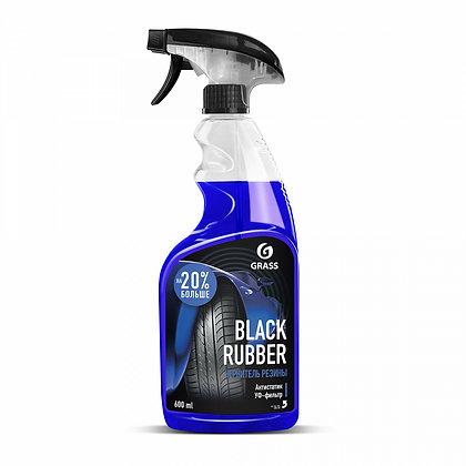 """Полироль чернитель шин """"Black rubber"""" (флакон 600 мл)"""