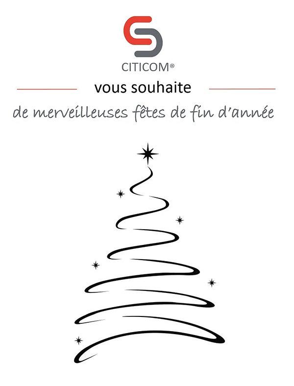 Citicom vous souhaite de merveilleuses fêtes