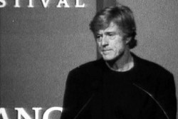 Redford on stage