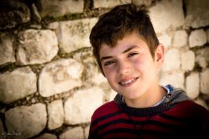 Child Actor on Movie set in Sicily, Ital