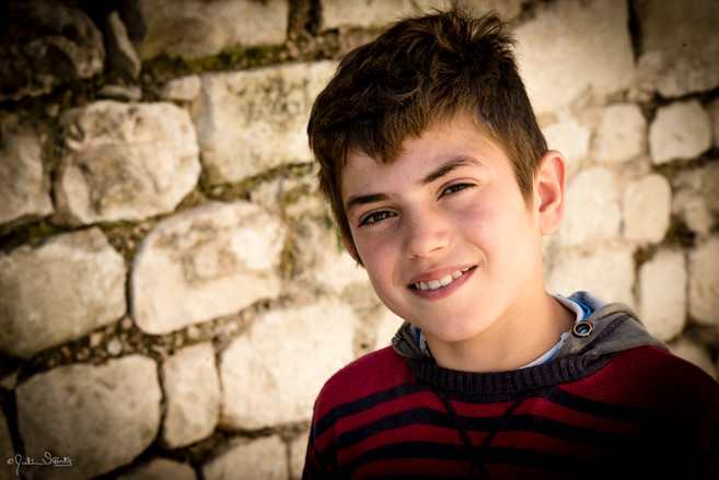 Child Actor on Movie set in Sicily, Ital