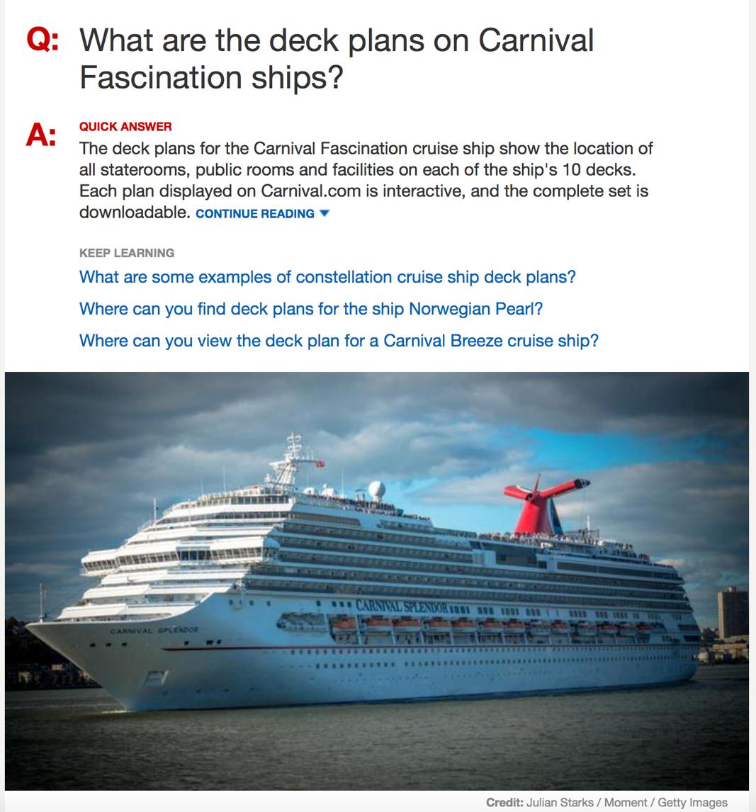 Carnival Fascination Cruise