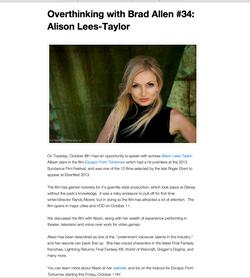 Alison Lees-Taylor Press Photo