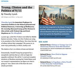 Trump, Clinton and the Politics of 9:11.