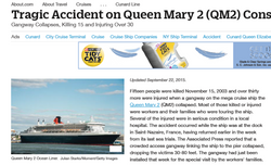 Accident on Queen Mary