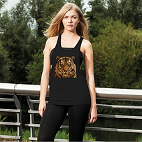 Massive Tiger Women's Loose Racerback Ta