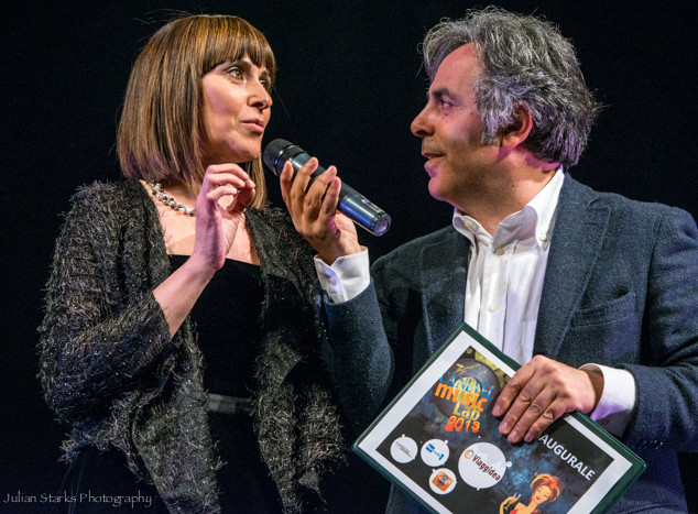 Giuseppina Torre at Music show in Verona