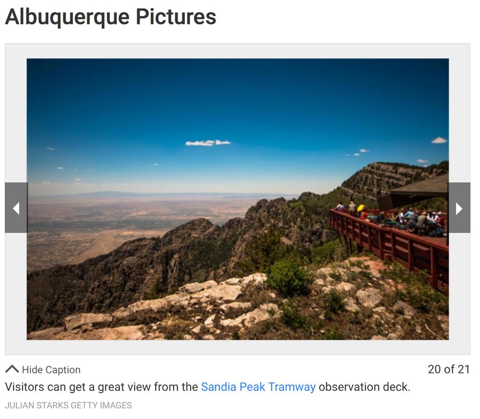 Sandia Peak Observation deck