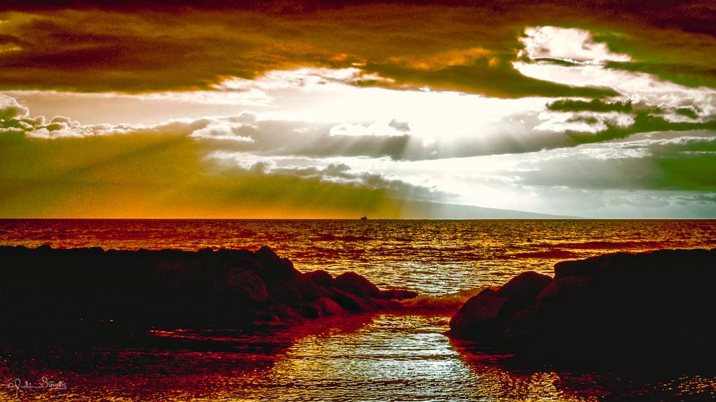 Sunset on Malibu Beach, California_Julia