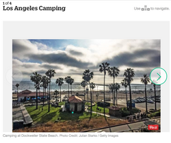 Camping at Dockweiler State Beach