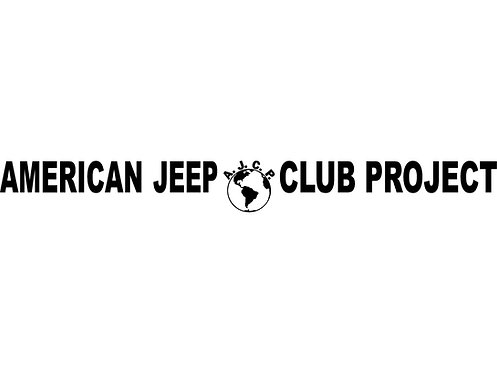 A.J.C.P. Windshield Banner