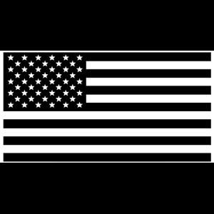 American Flag Silhouette