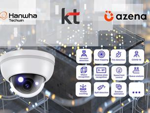 Hanwha Techwin сотрудничает с Azena и KT в области видеорешений на основе искусственного интеллекта