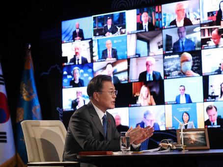 Президент Южной Кореи рассказал мировым лидерам об инклюзивной политике страны в условиях пандемии
