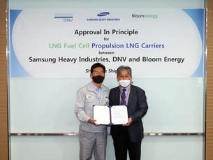Samsung Heavy построила первый в мире СПГ-танкер на топливных элементах