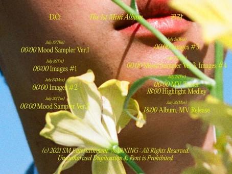 EXO Дио представил график выхода своего первого сольного альбома
