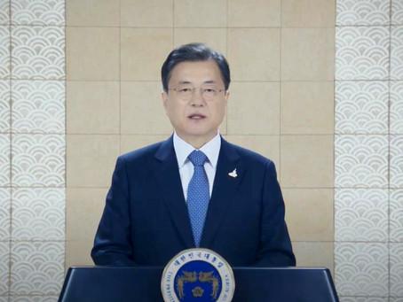 Президента Южной Кореи призывает США поддержать прекращение войны в Корее