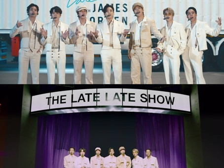 BTS снялись на американском ток-шоу «The Late Late Show with James Corden»
