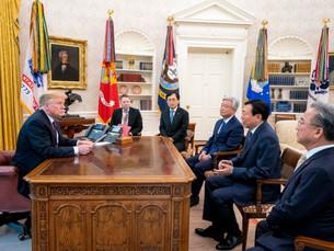 [Newsmaker] Трамп благодарит главу Лотте за создание рабочих мест на редкой встрече