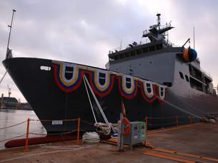 Южная Корея спускает на воду современное спасательное судно для подводных лодок