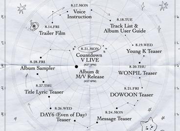Юнит DAY6 «EVEN OF DAY» представил график выхода нового альбома