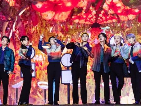 BTS, SUPER JUNIOR, SEVENTEEN на церемонии 2021 THE FACT MUSIC AWARDS
