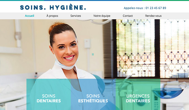 Santé website templates – Dentiste