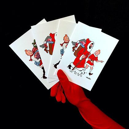 'Parody' Christmas Cards 8pk