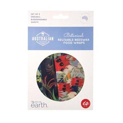 Reusable beeswax food wraps - Botanical