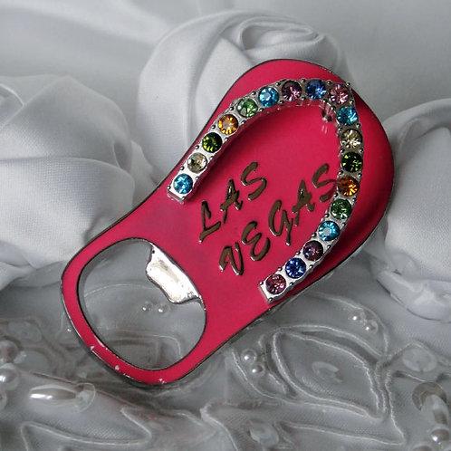 Sandal Magnet / Bottle Opener, Pink