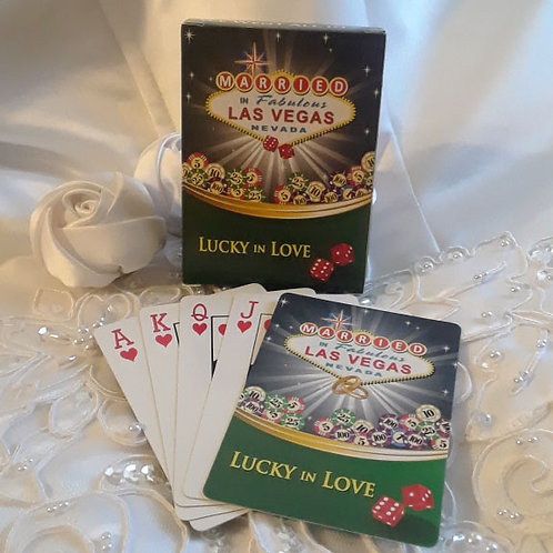 Married in Las Vegas Playing Cards, Set of 12