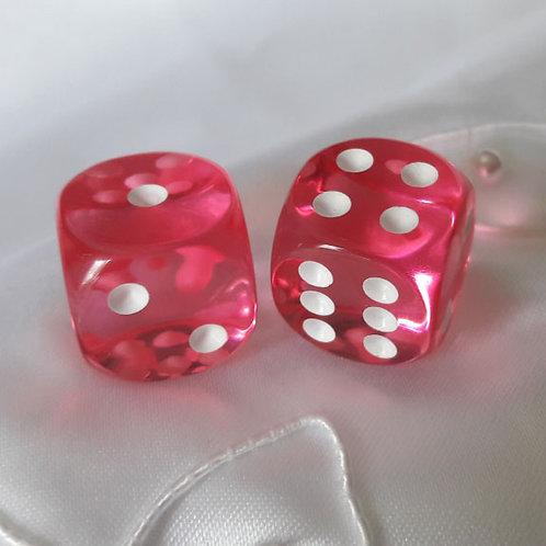 Translucent Pink Dice (NEW)