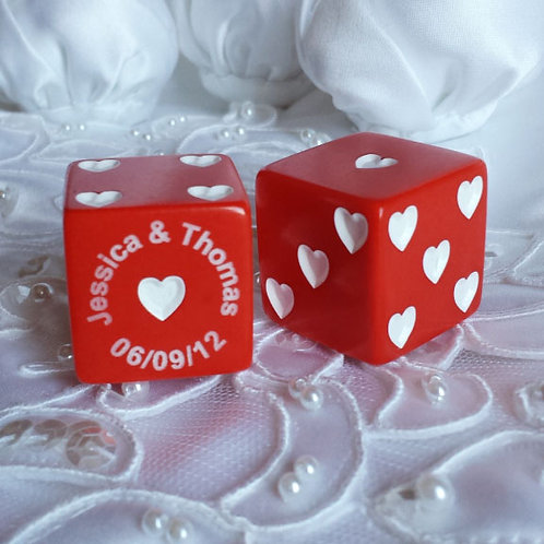Red Sweetheart Dice