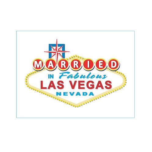 Married in Las Vegas Temporary Tattoos, Set of 24