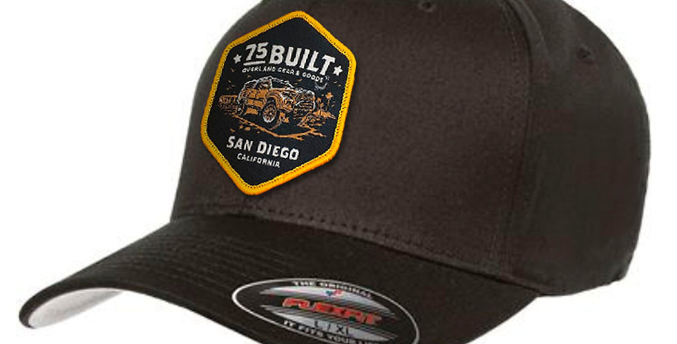 75Built FLEXFIT Cap - Black