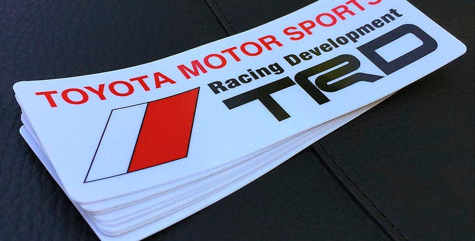 TRD Toyota Motor Sports Sticker