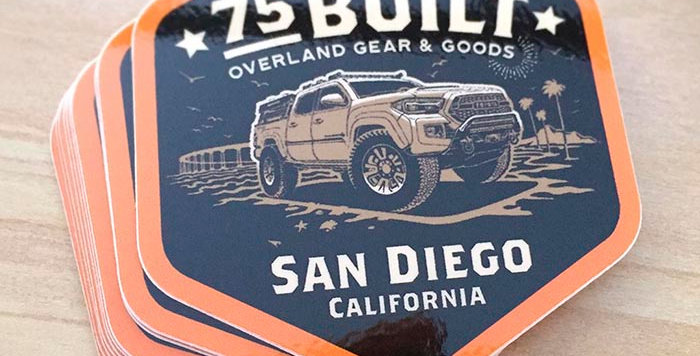 75Built Truck Sticker
