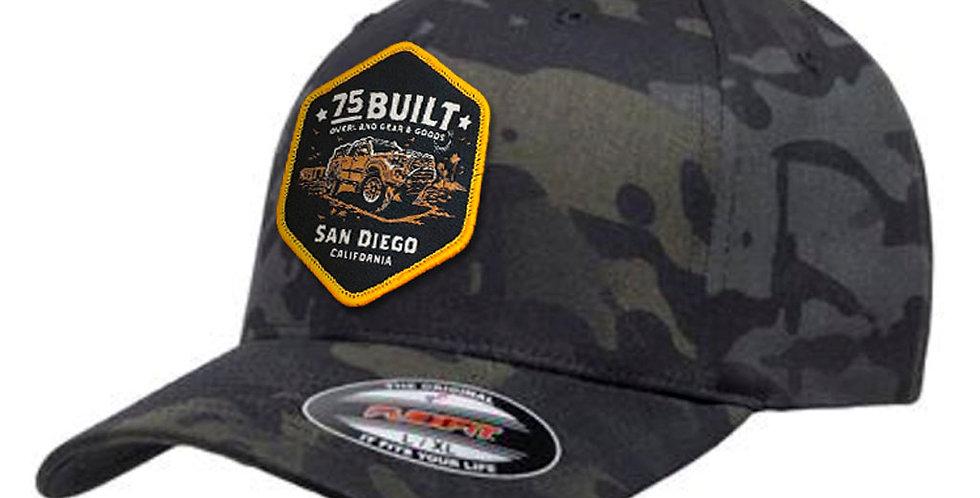 75Built FLEXFIT Cap - Black Multicam
