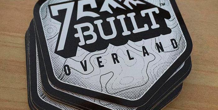 75Built Overland Logo Sticker