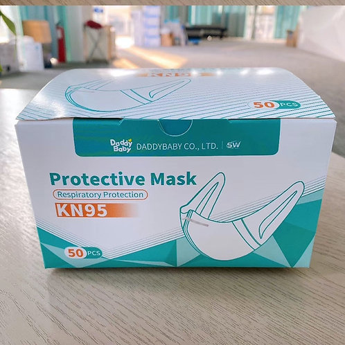 Daddy Baby KN95 Respiratory Face Mask Personal Health, Pack of 50pcs