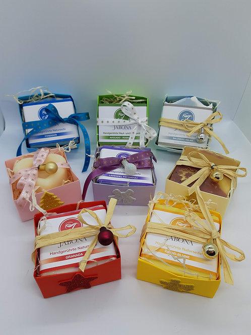 Seife nach Wahl als Geschenksverpackung