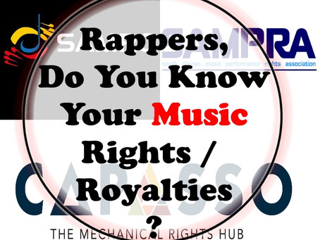 Rappers, Do You Know Your Music Rights / Royalties?